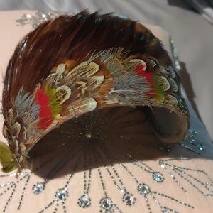 Vintage feather headpiece.
